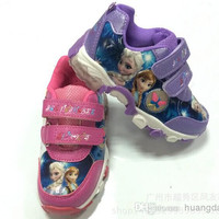 Frozen anna elsa Children's kids sports shoes sandals shoes baby girls sandal sport boy sneakers Cool care big small size