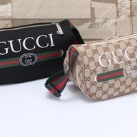 """Gucci"" Fashion Letter Logo Metal Chain Single Shoulder Messenger Bag Small Square Bag"