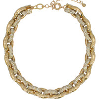 Crystal Pavé Statement Necklace - Made in France