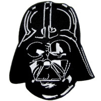 Darth Vader Helmet Patch Iron on Applique Alternative Clothing Dark Side