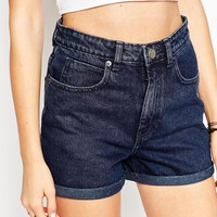 ASOS Denim Mom Short In Laurel Wash