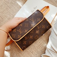 LV Retro Vintage Women's Canvas Waist Bag Shoulder Bag Crossbody Bag