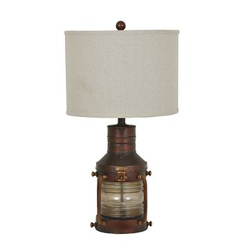 Copper Lantern Table Lamp