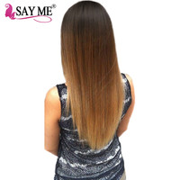 SAY ME Ombre Malaysian Straight Hair Bundles Deal T1b/4/27 Human Hair Weave Extensions 3 Three Tone Non Remy Hair Weft