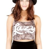 LAZY CROPPED Tank Top