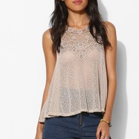 Pins And Needles Floral-Trim Halter Top - Urban Outfitters
