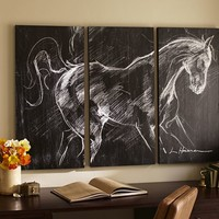 PLANKED HORSE TRIPTYCH