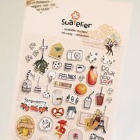 1 x SONIA Reminisce paper sticker DIY decorative sticker for album scrapbooking kawaii stationery diary sticker