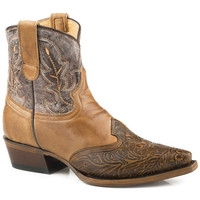 Roper Women's Brown Steppin' Out Boots - Snip Toe