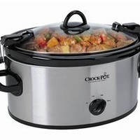 Crock Pot Cook'N Carry 6-Quart Oval Manual Portable Slow Cooker Stainless Steel, SCCPVL600S