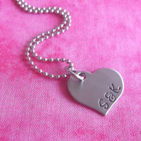 Heart Necklace - small name necklace