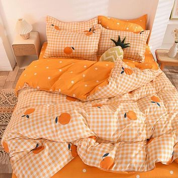 Luxury Organic Colorful Duvet Cover Bedding Set