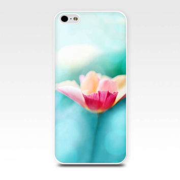 floral iphone case 5s iphone 4s case teal iphone case girly iphone 4 case 5 nature iphone case pink peach pastel iphone case spring flower