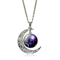 Crescent Moon 12 Constellation Zodiac Necklaces