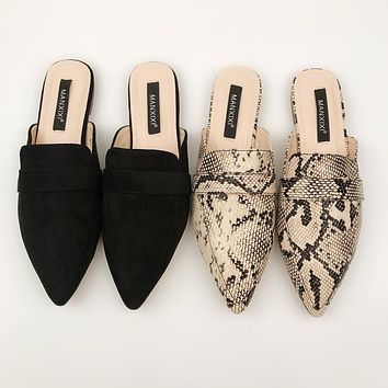 New hot selling sexy deep mouth flat with flat bottom slippers