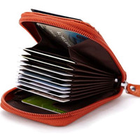 Hot Sale Genuine Leather Unisex Card Holder Wallets High Quality
