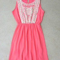 Coral Dream Catcher Dress [7259] - $42.00 : Feminine, Bohemian, & Vintage Inspired Clothing at Affordable Prices, deloom