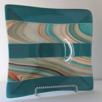 Fused Glass Bowl, Colors of the Southwest, Dinning and Entertaining, Smokeylady54