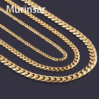 Width 3.6mm/5mm/7mm Stainless Steel Gold Chain Men Necklace Gold Filled Stainless Steel Link Chain Necklace Free