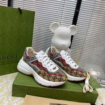 GUCCI  New season pair g color collage leather daddy shoes