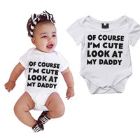 """Onesuit for Baby, """"Of course I'm Cute"""""""