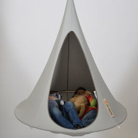 Hanging chair Bonsai Ø 120 cm / For childern Light grey | Hanging chair Cacoon