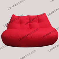 FREE SHIPPING red bean bag cover modern loveseat sofa chair 100% cotton canvas love seats bean bag furniture Double Sofa