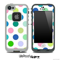 Color-Bright V2 Polka Dot Pattern Skin for the iPhone 5 or 4/4s LifeProof Case