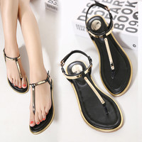 Women Sandals 2018 New Summer sequin Sandals Flip Flops size 35 to 41 Shoes Flat Sandal KJ341