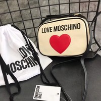 ''MOSCHINO '' Women Shopping Leather Crossbody Shoulder Bag