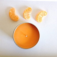 Soy scented candle orange chili pepper Valentine's Day mothers day gift for her summer bridesmaids gift