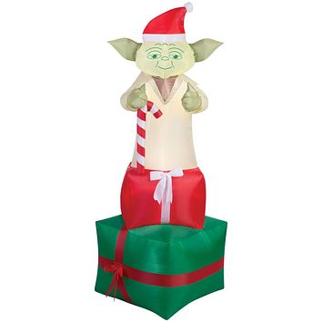 Airblown Yoda on Presents Inflatable