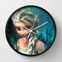 The Storm Inside Wall Clock by Alice X. Zhang