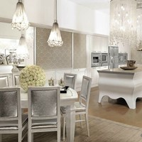 Lacquered oak kitchen with island PAPILLON Papillon Collection by Brummel Cucine