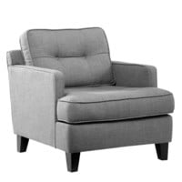 Eden Chair In Cement Gray Fabric