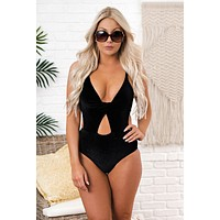 Wave After Wave One Piece Swimsuit (Black)