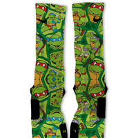 Ninja Turtles Party Customized Nike Elite Socks! Fast Shipping!!