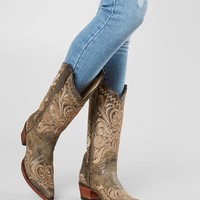 Circle G by Corral Distressed Leather Western Boot - Women's Shoes in LD Distressed Green   Buckle