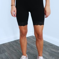 Easy To Love Biker Shorts: Black
