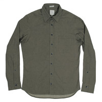 Moss Sanded Canvas Mechanic Shirt