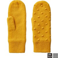 WOMEN U LAMBS KNIT MITTENS (DOT)