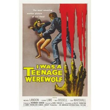 I Was A Teenage Werewolf Vintage Movie Poster