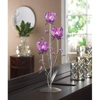Lovely Fuchsia Blooms Candle Holder
