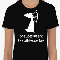 Disney Brave Meridia She Goes Where The Wild Takes Her (Multi-Color Choices) Womens T-Shirt