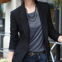 Fashion Women's One Button Slim Casual Business Blazer Suit Jacket Coat Outwear(S-XXXL) = 1930295684