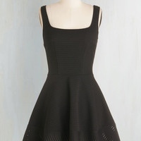 LBD Short Length Sleeveless Fit & Flare Met with Splendor Dress in Black by ModCloth