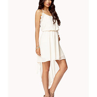 Crochet Lace-Trimmed High-Low Dress | FOREVER 21 - 2055372689