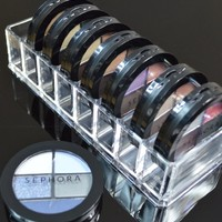 Acrylic Compact Organizer & Beauty Care Holder Provides 8 Space Storage | byAlegory Makeup Organizer