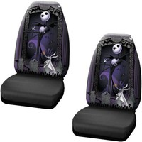 Nightmare Before Christmas Jack Skellington Graveyard Zombie NBC Front Car Truck SUV Bucket Seat Covers - Pair