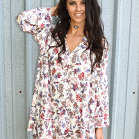 Fall Florals Swing Dress